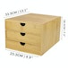 Bamboo Desktop 3 Drawer | M&W Slim Opening - Image 4