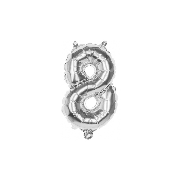 Foil Balloon Number 8 (Silver)