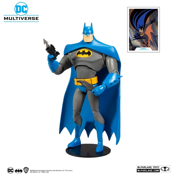 DC Multiverse Animated Action Figure Animated Batman Variant Blue/Gray 18 cm