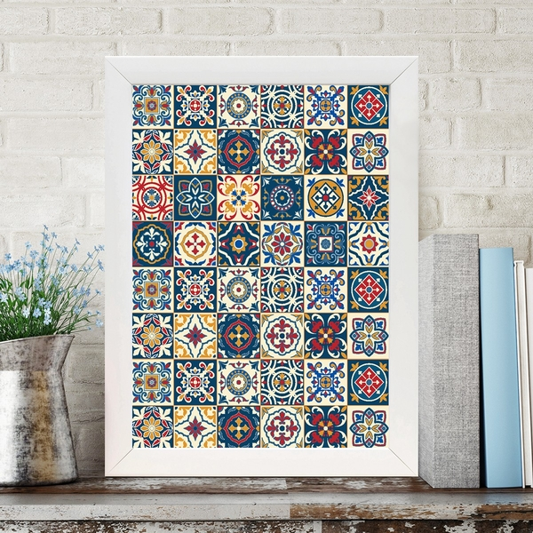 BC348829583 Multicolor Decorative Framed MDF Painting