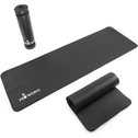 Proworks Large 10mm Thick Padded Yoga Mat With Carry Handle in Black