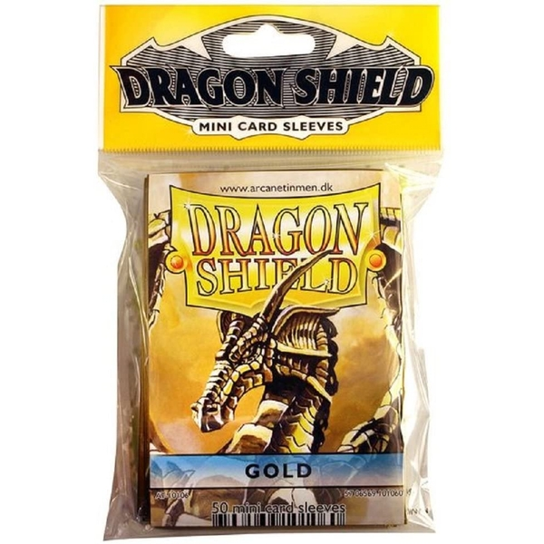 Dragon Shield Japanese Size Gold Card Sleeves - 50 Sleeves