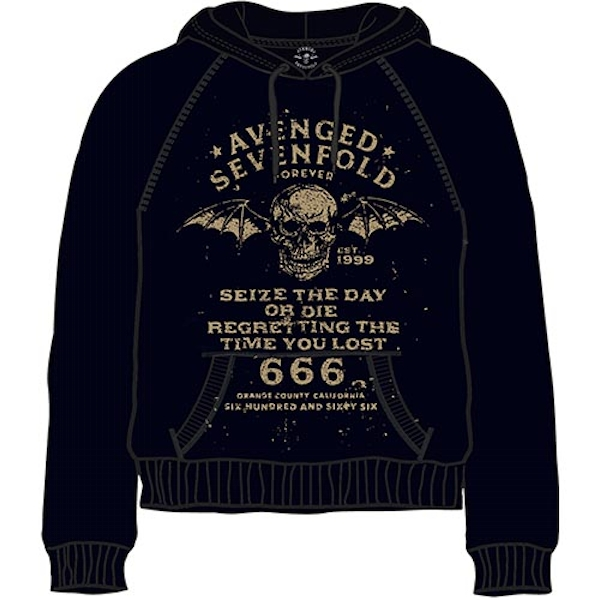 Avenged Sevenfold - Seize the Day Unisex Large Pullover Hoodie - Black