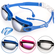 Proworks Anti-Fog Mirrored UV Protection Swimming-Goggles (Blue)