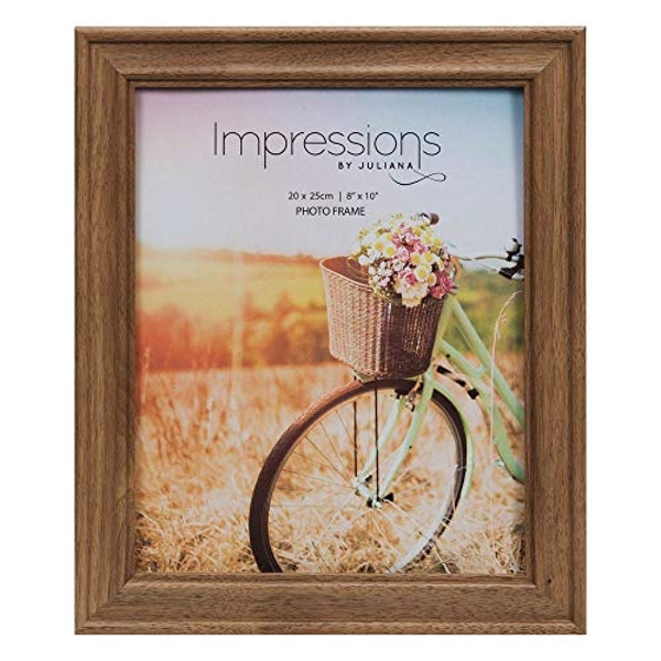 "8"" x 10"" - Natural Walnut Finish Wooden Photo Frame"