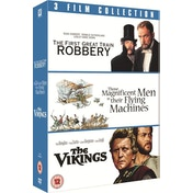 3 Film Collection: Vikings   Great Train Robbery   Magnificent Men In Their Flying Machines DVD