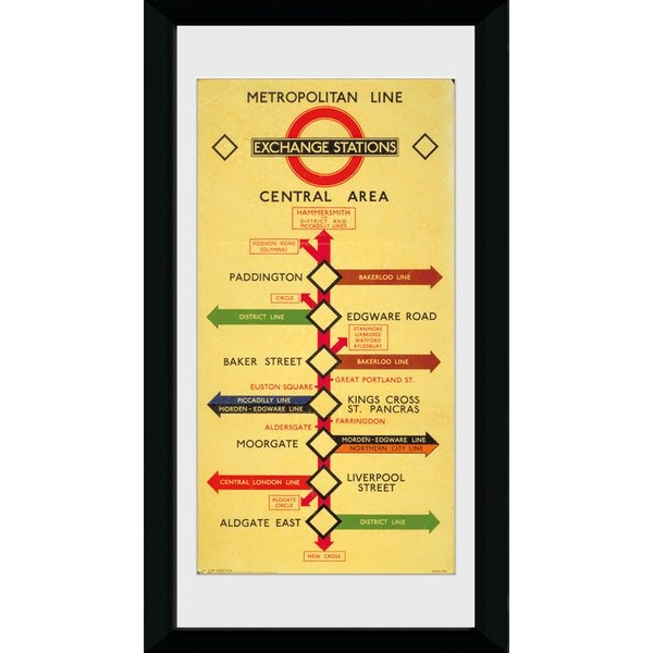 Transport For London Exchange Stations Framed Collector Print