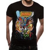 Justice League Comics - Comic Cover Men's Large T-Shirt - Black
