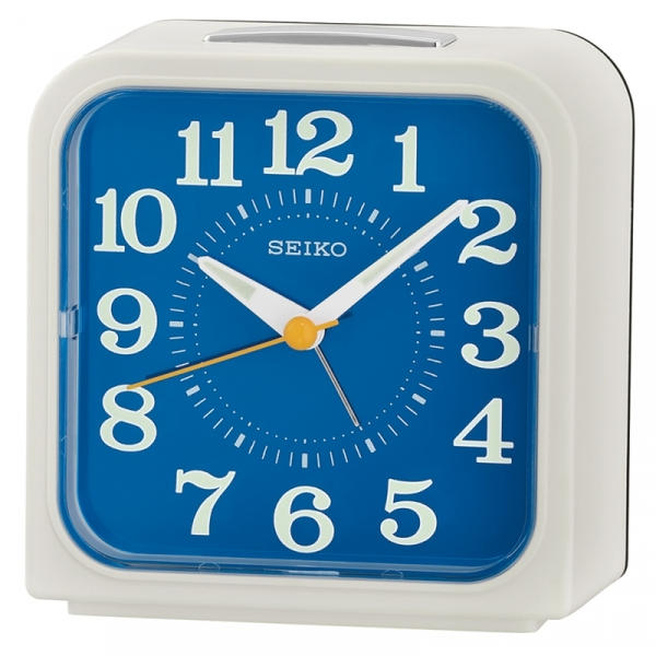 Seiko QHK048W Bell Alarm Clock with Snooze & Light White