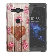 Sony Xperia XZ2 Compact Vintage Wooden Heart TPU Gel Case