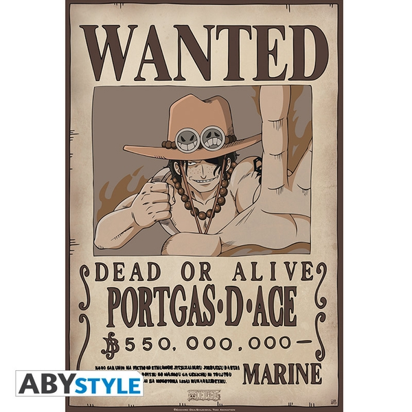 One Piece - Wanted Ace Small Poster