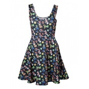 Nintendo Super Mario Bros. Female Characters & Icons Large Sleeveless Dress
