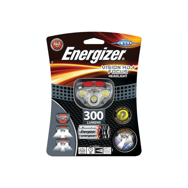 Energizer Vision HD+ Focus LED Head Torch with 3x AAA Batteries