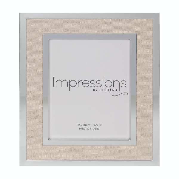 """6"""" x 8"""" IMPRESSIONS Silver Finish Frame with Canvas Border"""