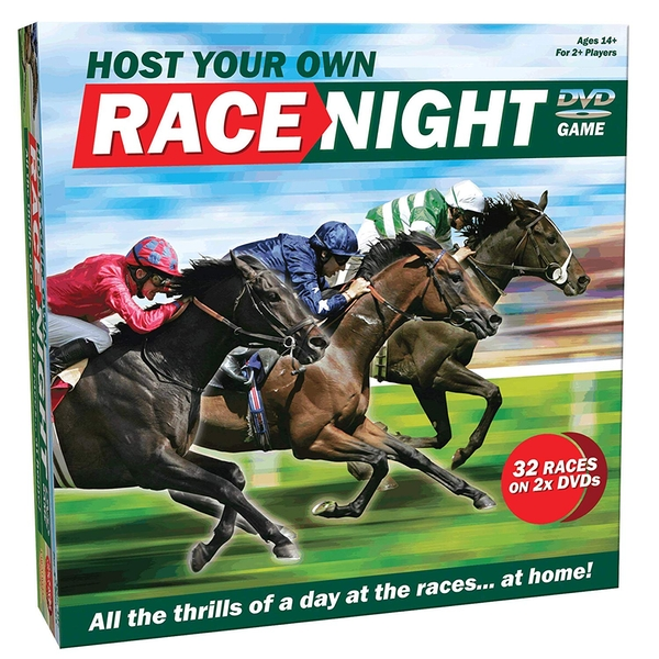 Host Your Own - Race Night DVD Board Game [Damaged Packaging]