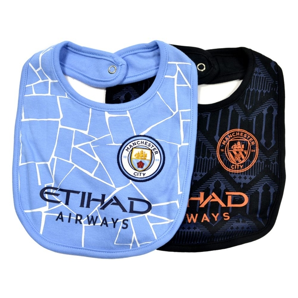 Man City Two Pack Bib Set Home And Away One Size