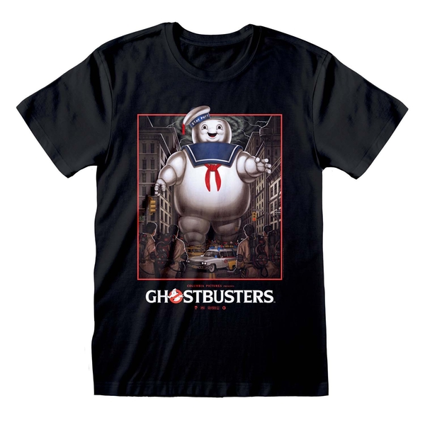 Ghostbusters - Stay Puft Square Unisex Large T-Shirt - Black