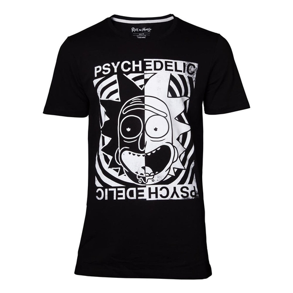 Rick And Morty - Psychedelic Men's XX-Large T-Shirt - Black