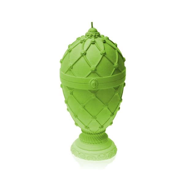 Lime Faberge Egg Large Candle