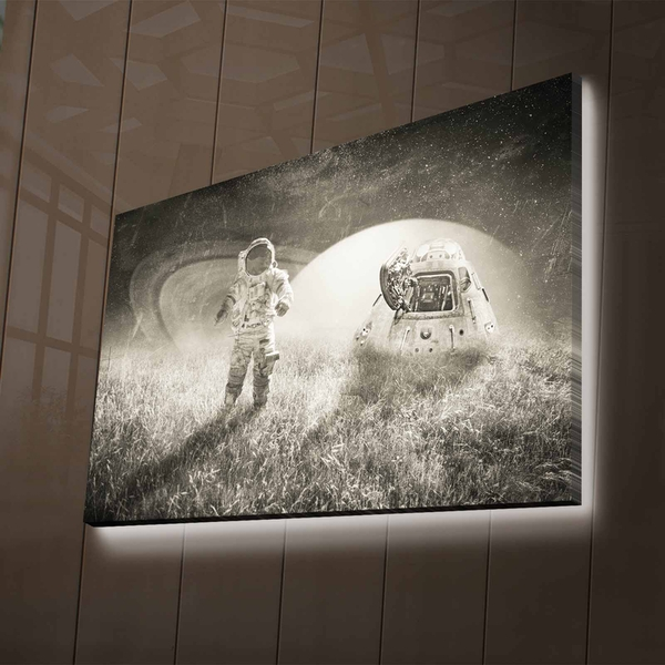 NASA-015 Multicolor Decorative Led Lighted Canvas Painting