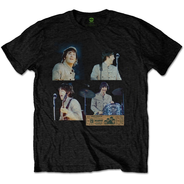 The Beatles - Shea Stadium Shots Unisex X-Large T-Shirt - Black