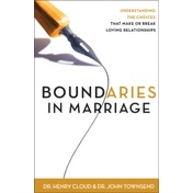 Boundaries in Marriage by Dr. Henry Cloud, John Townsend (Paperback, 2002)