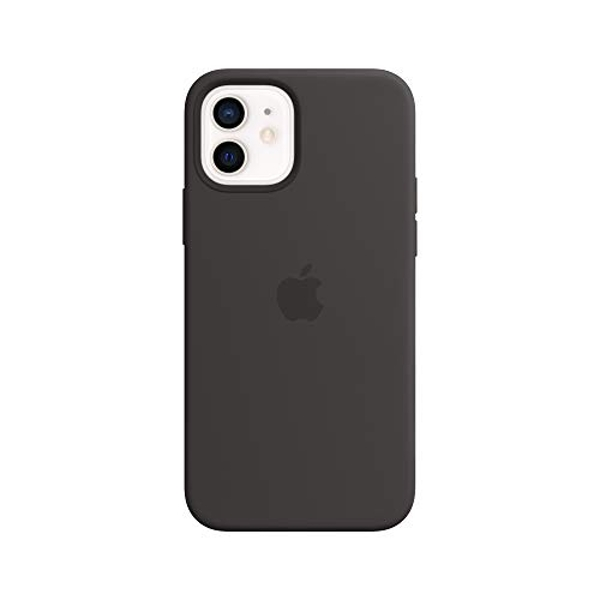 Apple Silicone Case with MagSafe (for iPhone 12   12 Pro) - Black