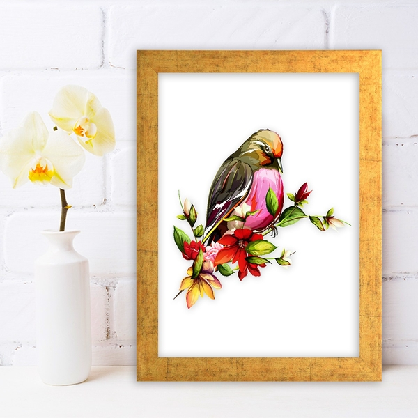 AC7866544121 Multicolor Decorative Framed MDF Painting