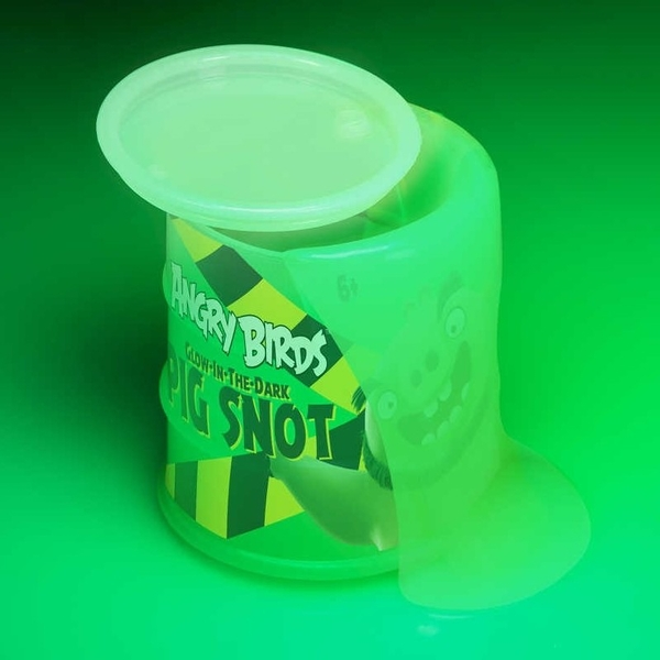 Angry Birds Glow In The Dark Pig Snot Slime