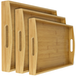 3 Bamboo Wooden Serving Trays | M&W - Image 5