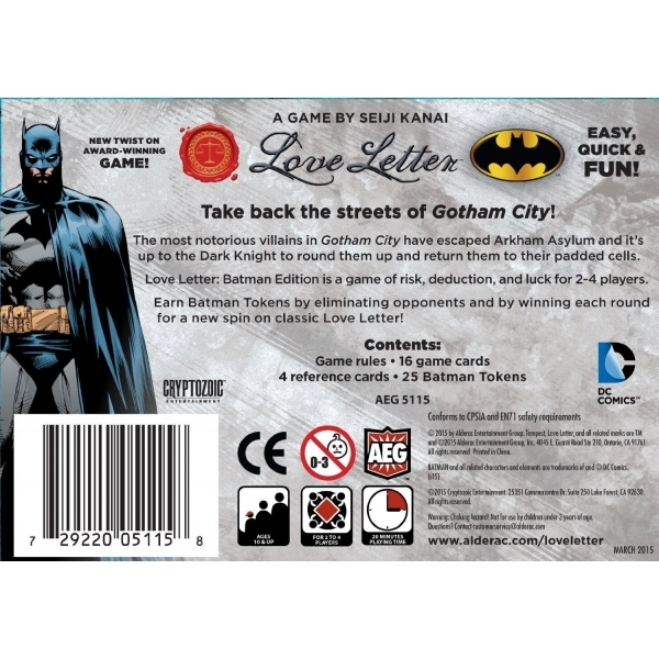 Love Letter Batman Boxed Edition Nzgameshop