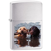 Zippo Labradors Brushed Chrome Windproof Lighter
