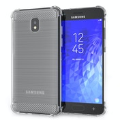 CASEFLEX SAMSUNG GALAXY J3 (2018) CARBON ANTI FALL TPU CASE - CLEAR