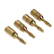 Hama Audio Speaker Adapter, banana plug, set of 4
