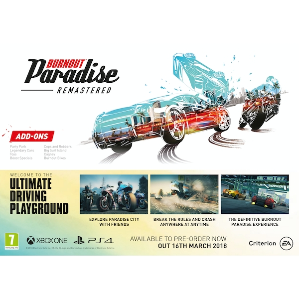 burnout paradise remastered xbox one game. Black Bedroom Furniture Sets. Home Design Ideas