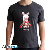 Raving Rabbids - Spoof Creed Men's Small T-Shirt - Grey