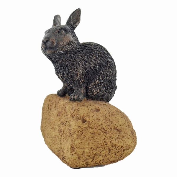 Stoned On Nature Rabbit Cold Cast Bronze Sculpture 9cm