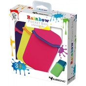Subsonic Rainbow Pocket 3 Case Pack Purple Yellow & Pink 3DS