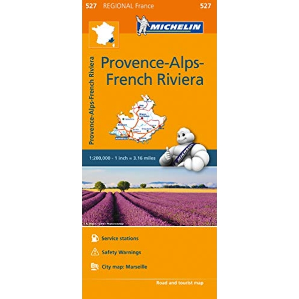 Provence- Alps - French Riviera - Michelin Regional Map 527 Map Sheet map 2016
