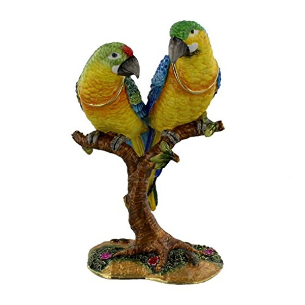 Treasured Trinkets Figurine - Pair of Parrots on Branch
