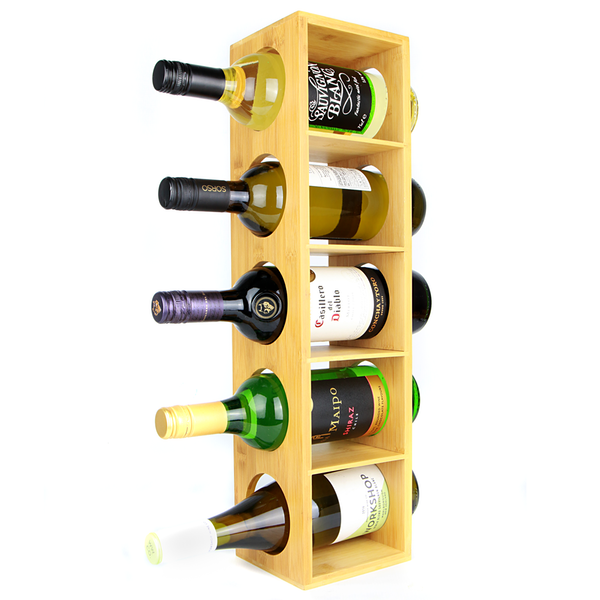 Bamboo Wall Mounted Wine Rack | M&W - Image 1