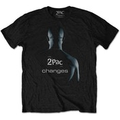 Tupac - Changes Men's Small T-Shirt - Black