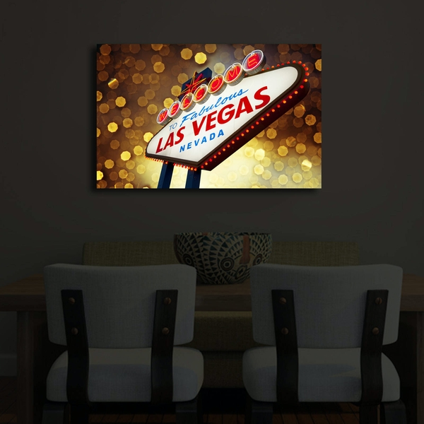 4570?ACT-29 Multicolor Decorative Led Lighted Canvas Painting
