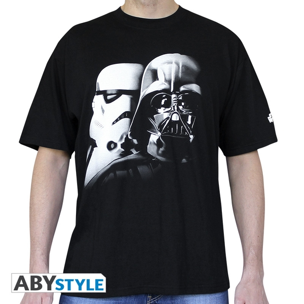 Star Wars - T Shirt Vador-Troopers Men's Large T-Shirt - Black