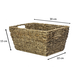Natural Seagrass Storage Basket | M&W Set of 1 - Image 3