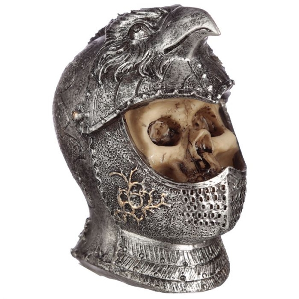 Gothic Skull in Medieval Bird Helmet (Pack Of 4) Ornament