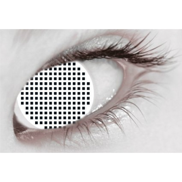 White Mesh 1 Month Halloween Coloured Contact Lenses (MesmerEyez XtremeEyez)