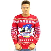 Sonic Classic Christmas Jumper Large