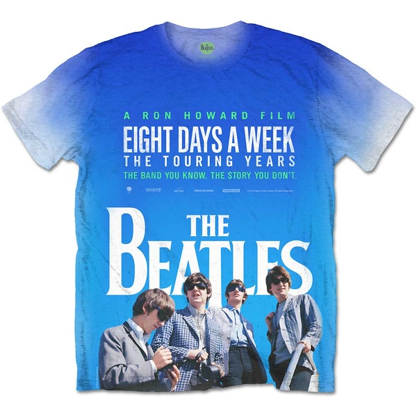 The Beatles - 8 Days a Week Movie Poster Unisex X-Large T-Shirt - Sublimated,White