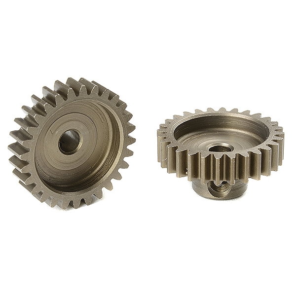 Corally M0.6 Pinion Short Hardened Steel 28 Teeth Shaft Dia. 3.17Mm